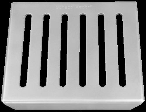 Schlitzrost 2 mm barfuss begehbar Grösse 145 x 145 x 14 mm