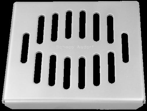 Schlitzrost 2 mm barfuss begehbar Classic Grösse 145 x 145 x 14 mm