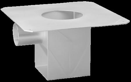 BA-Unterteil mit Klebeflansch und horizontalem Auslauf