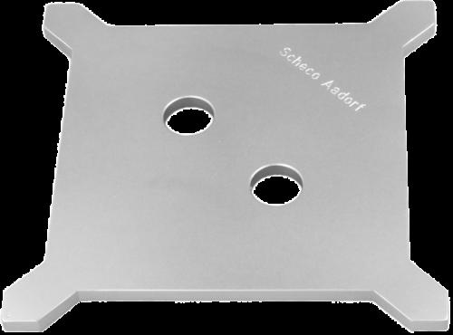 Einlaufplatte 6mm befahrbar Grösse 145 x 145 x 14 mm