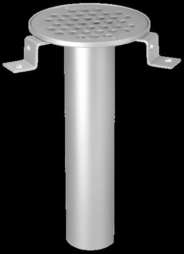 Bodeneinlauf Typ 100/50 rund Ø 129mm, Auslauf vertikal