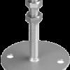 Oberteil 150 x 150 mm, mit Rohr Ø 114,3/1,0 mm Länge 100 mm