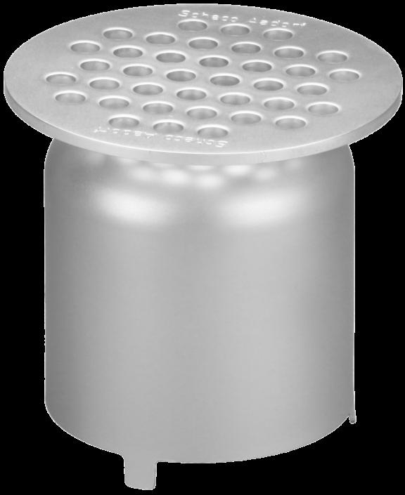 Lochrost 4mm begehbar, rund Ø 124 mm mit Geruchsverschluss